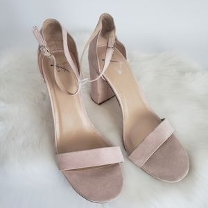 A New Day Sz 11 Womens Nude Block Sandal Heels